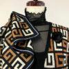 多色のジャガード編み(3色)ベストスーツ